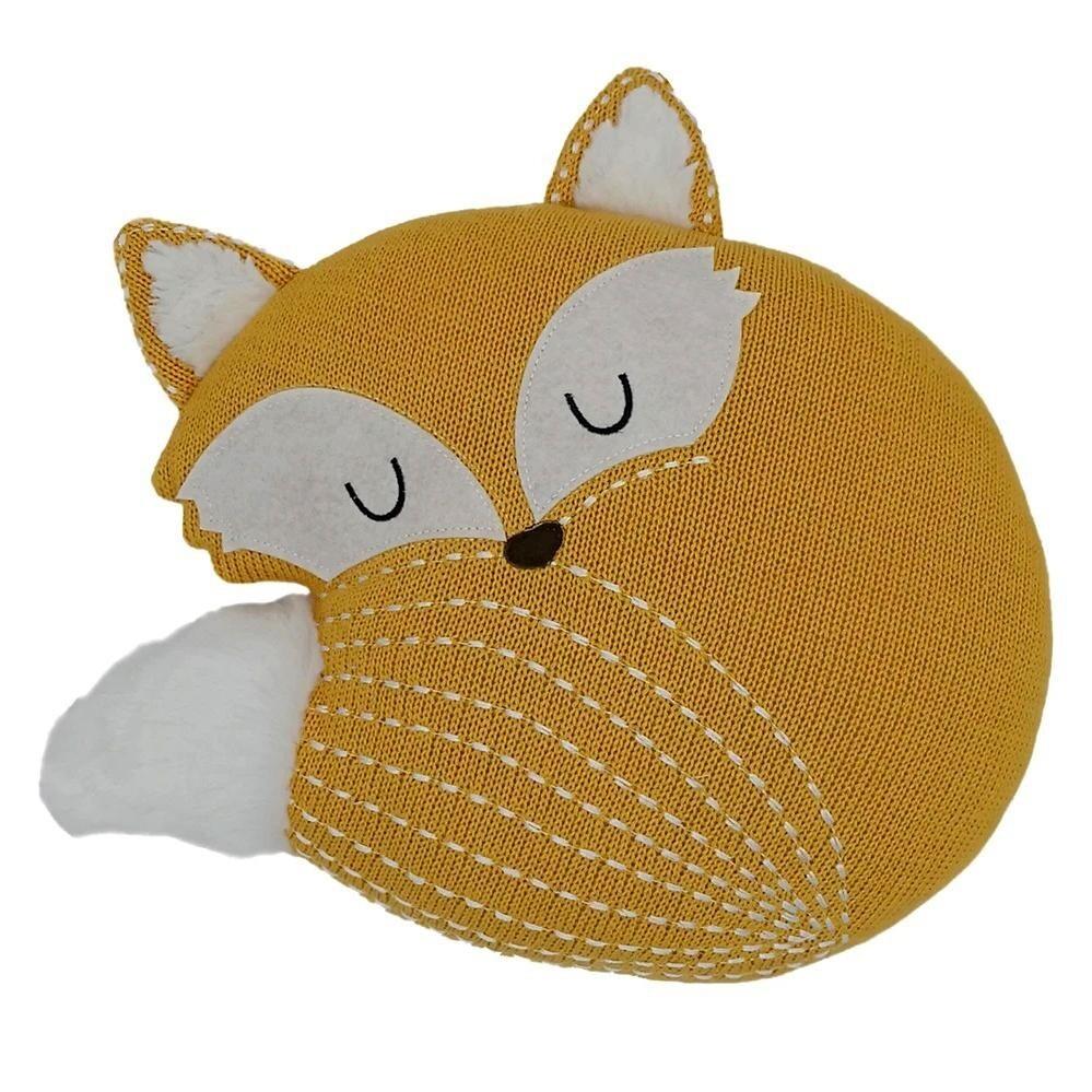 Fox Knitted Cushion