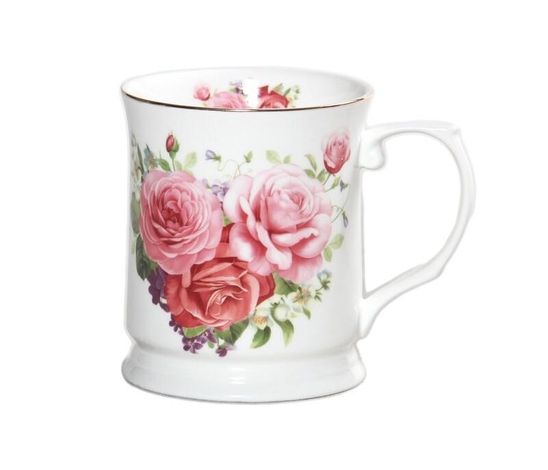 Pink Rose Mug - 415ml