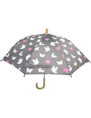 Birds & Butterflies Umbrella Grey