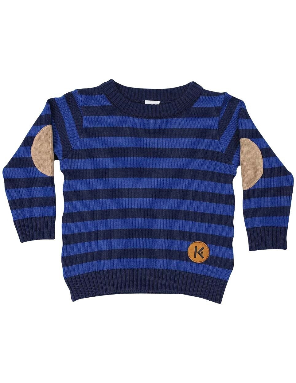 Aeroplanes Striped Sweater Navy