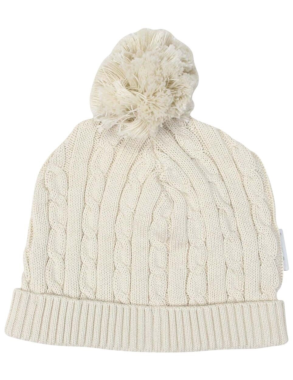 Cable Knit Beanie Beige