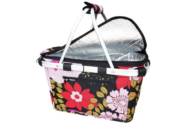 Insulated Carry Basket-Floral Blooms