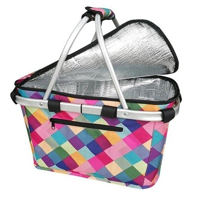 Insulated Carry Basket-Harlequin
