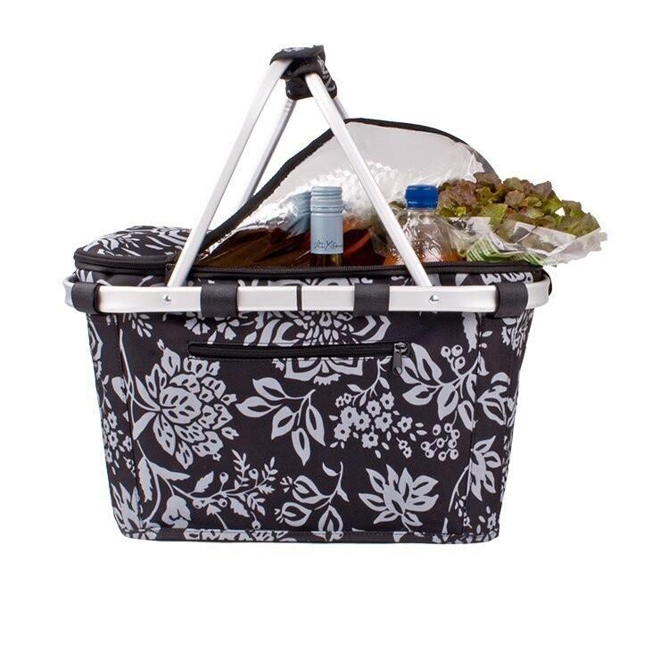 Insulated Carry Basket-Camelia Black