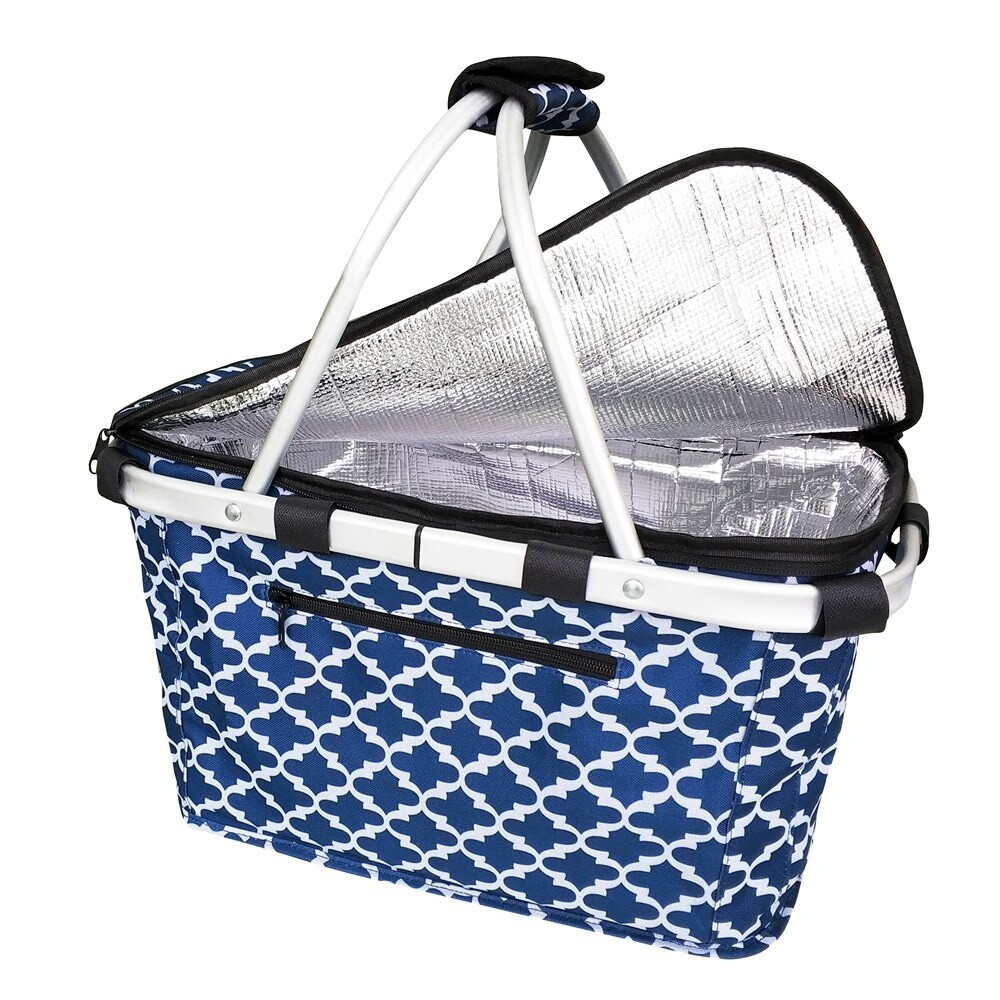 Insulated Carry Basket-Moroccan Navy