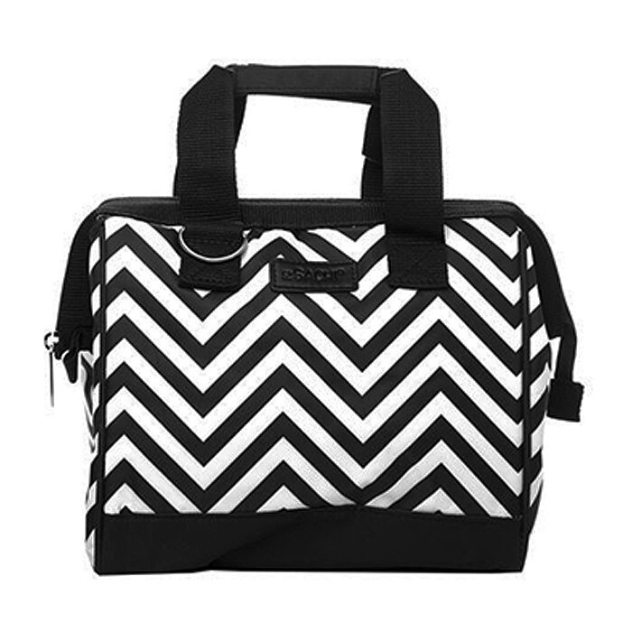 Insulated Lunch Bag-Chevron Strips
