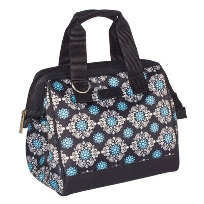 Insulated Lunch Bag-Black Medallion