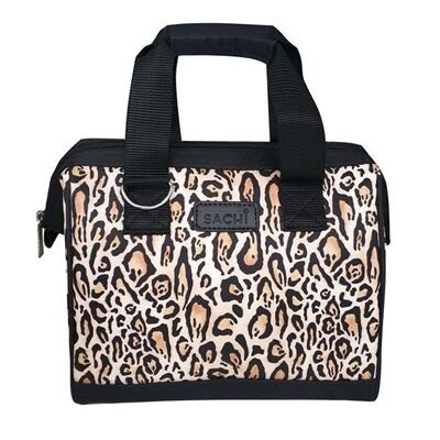Insulated Lunch Bag-Leopard Print