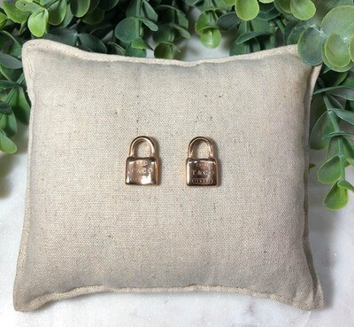 R/G Padlock Earrings
