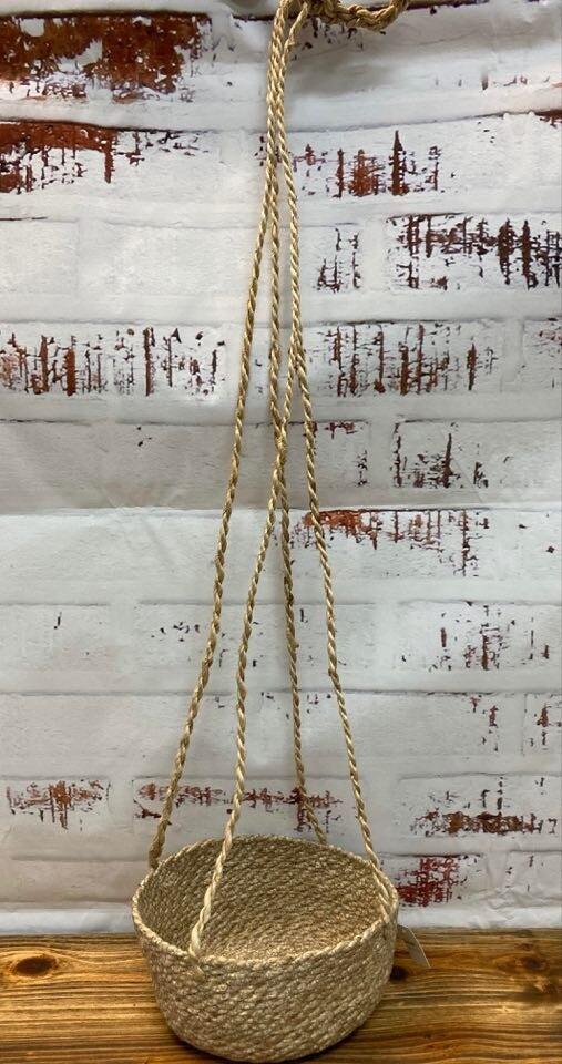 Jute Hanging Basket 80cm