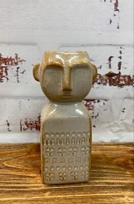 Sahara Man Vase White 15cm
