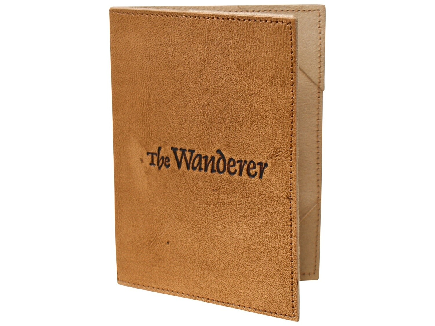 Leather Passport Cover Wanderer