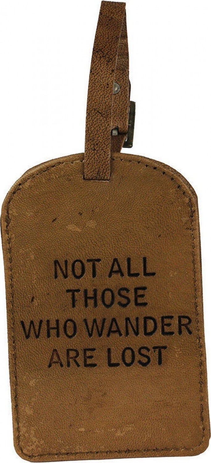 Leather Luggage Tag-Wander