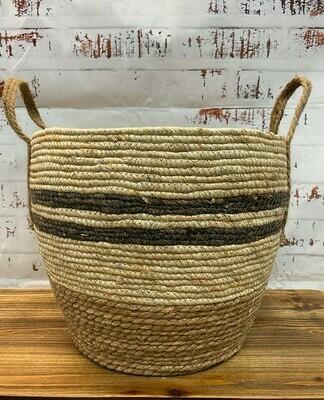 Stripe Basket Natural - Lge