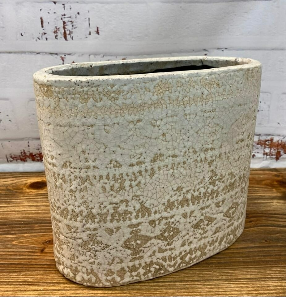 Pot Oval XL Textured