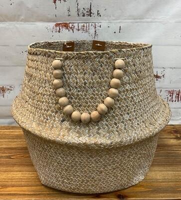 Belly Basket Nat Wash Beads Lg