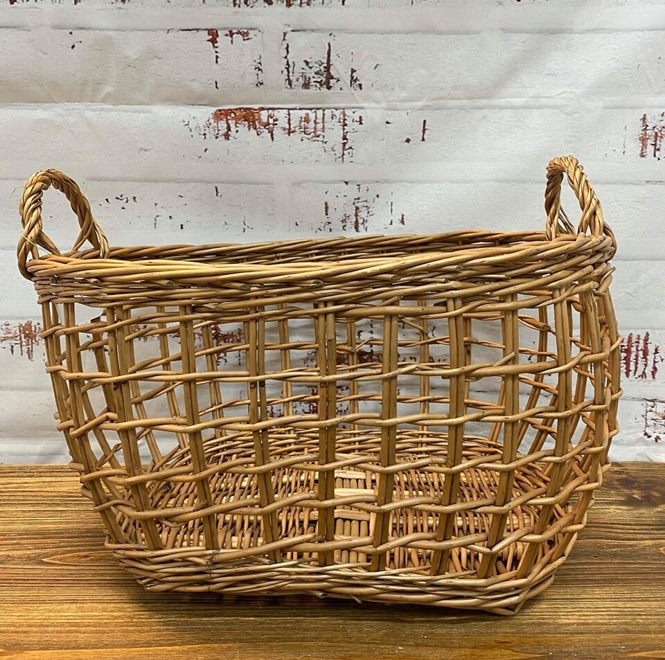 Willow Rect Basket 49cm