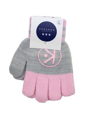 Gloves - Charcoal/Pink