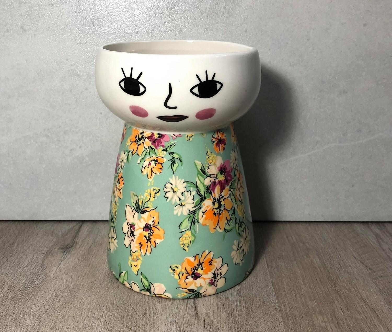 Doll Vase Vintage Garden
