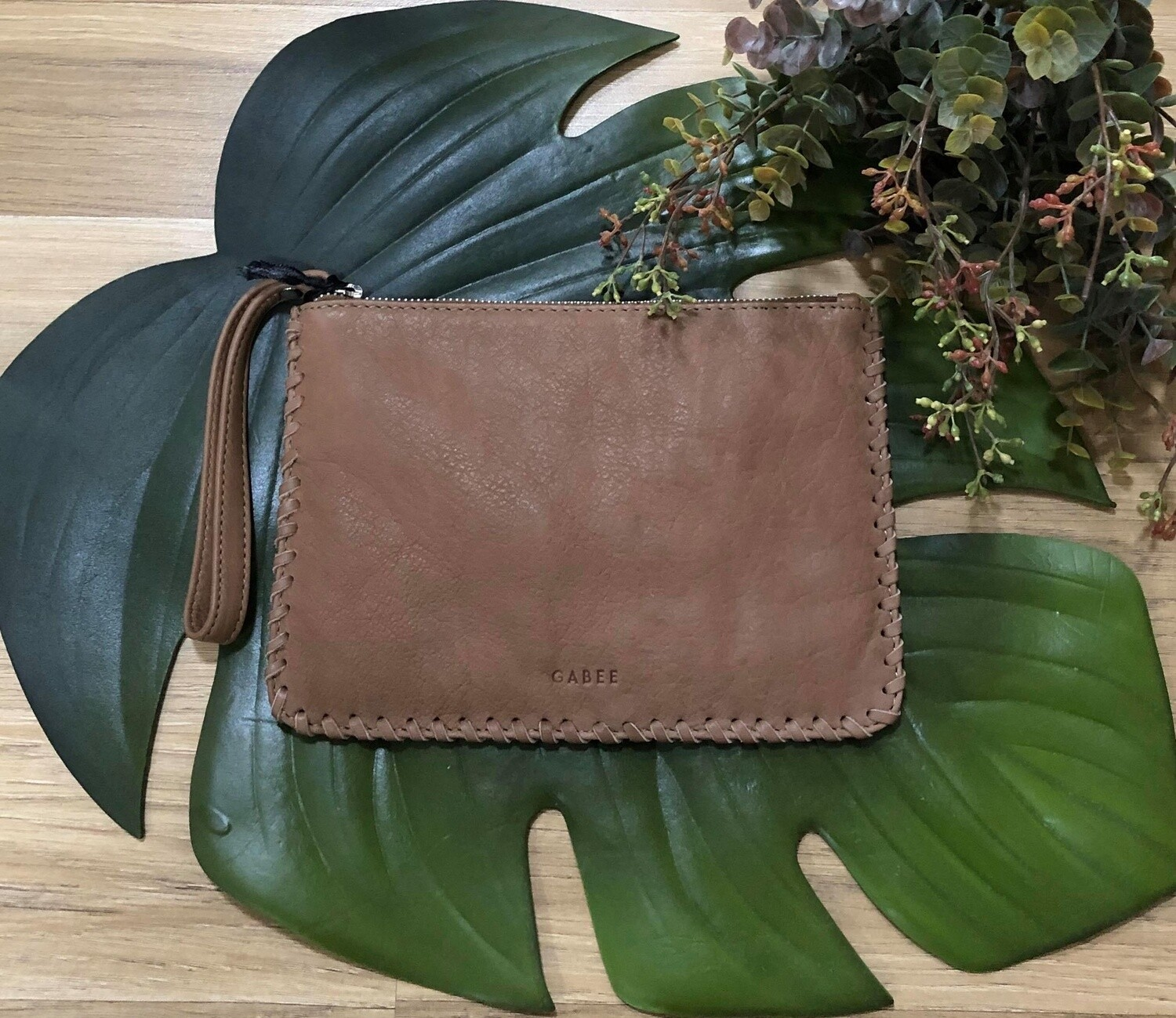 Staten Leather Pouch Taupe