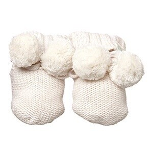 Organic Booties Marley Cream 000