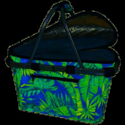 Insulated Carry Basket-Jungle Leaf