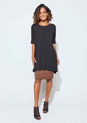 Bardot Tunic Black O/S
