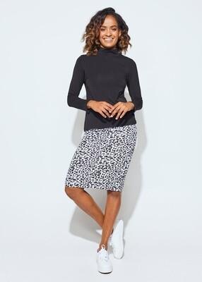 Midi  Whitney Tube Skirt Leopard