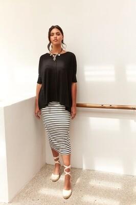 Long Whitney Tube Skirt Grey Marle
