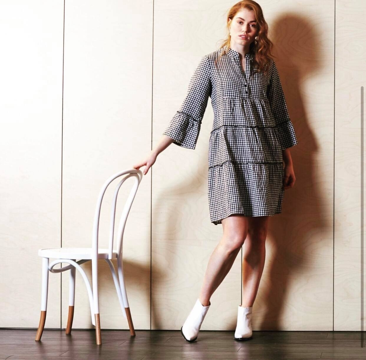 Ruffle Dress Gingham