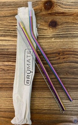 Stainless Steel Imperial Pint Straws Rainbow