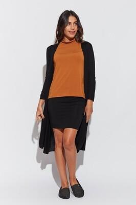 Midi Whitney Tube Skirt Black