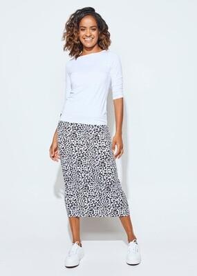 Long Whitney Tube Skirt Leopard