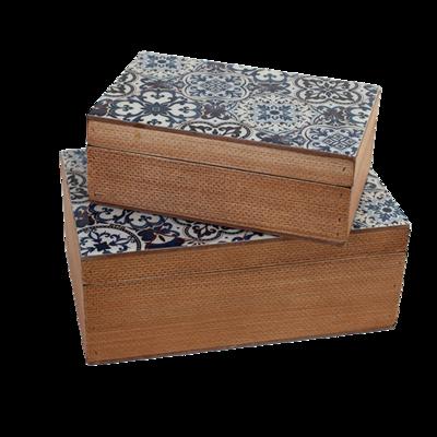 Wood Box Set Blue