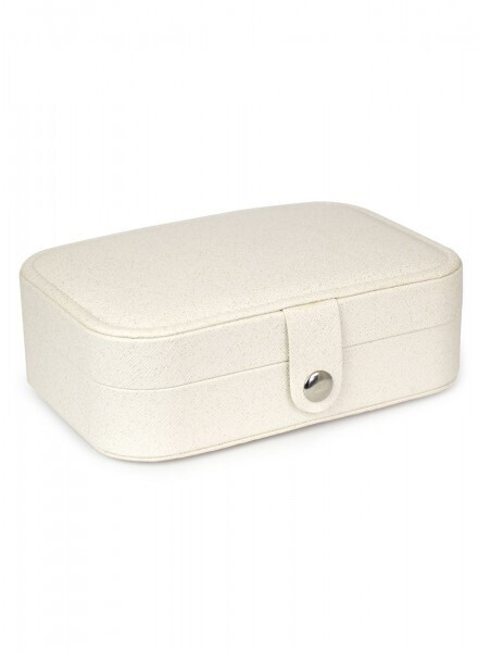 Jewellery Box Travel White Lg