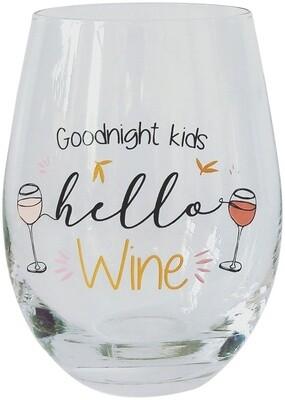 Wine Glass Goodnight Kids
