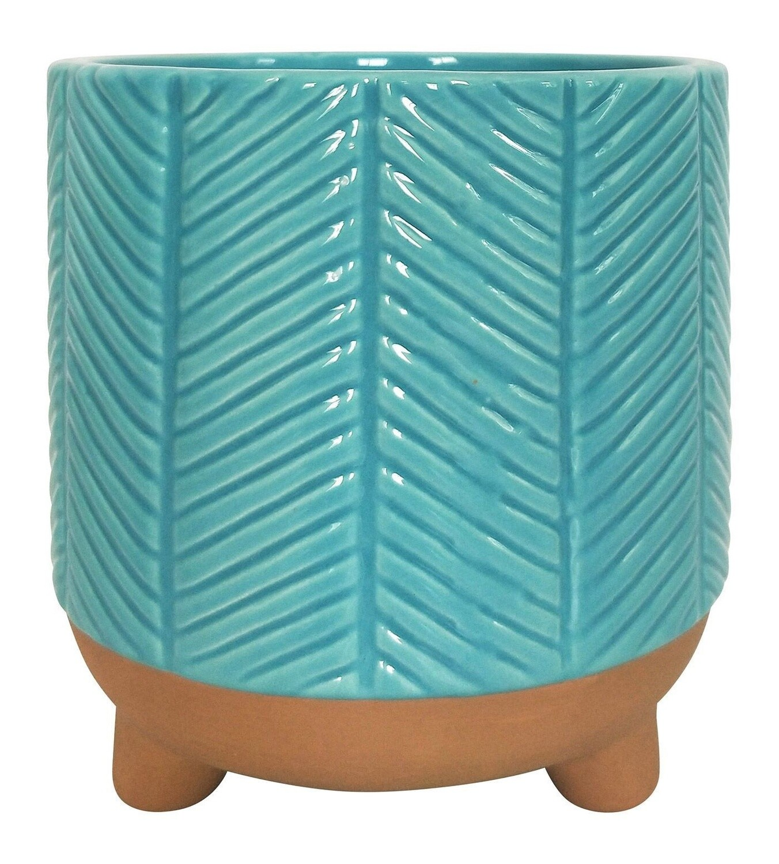 Zari Planter Turquoise