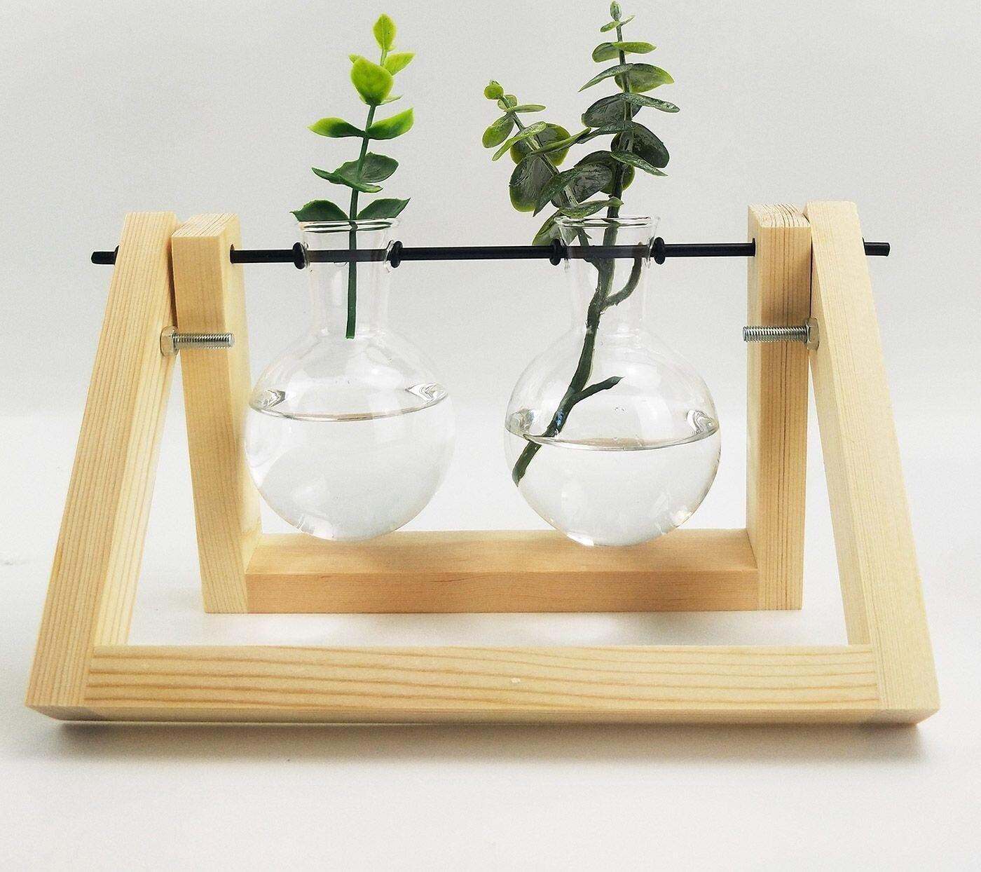 Double Glass Vase