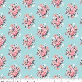 Abbies Garden Bouquet Aqua