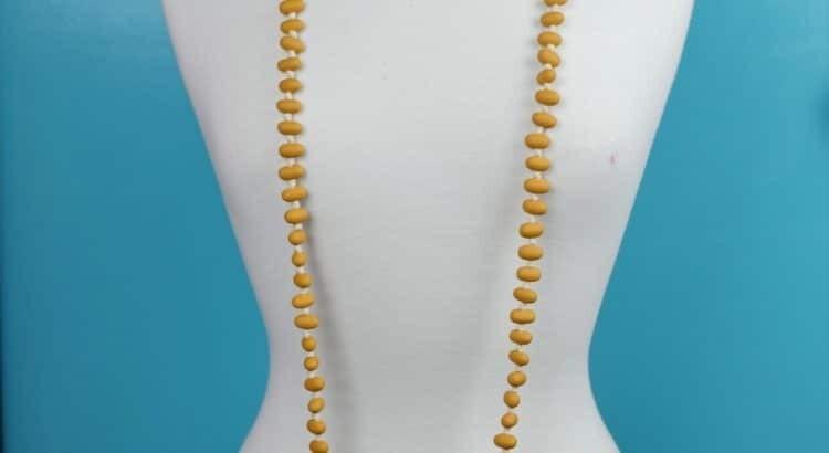 Necklace Jellybean Mustard