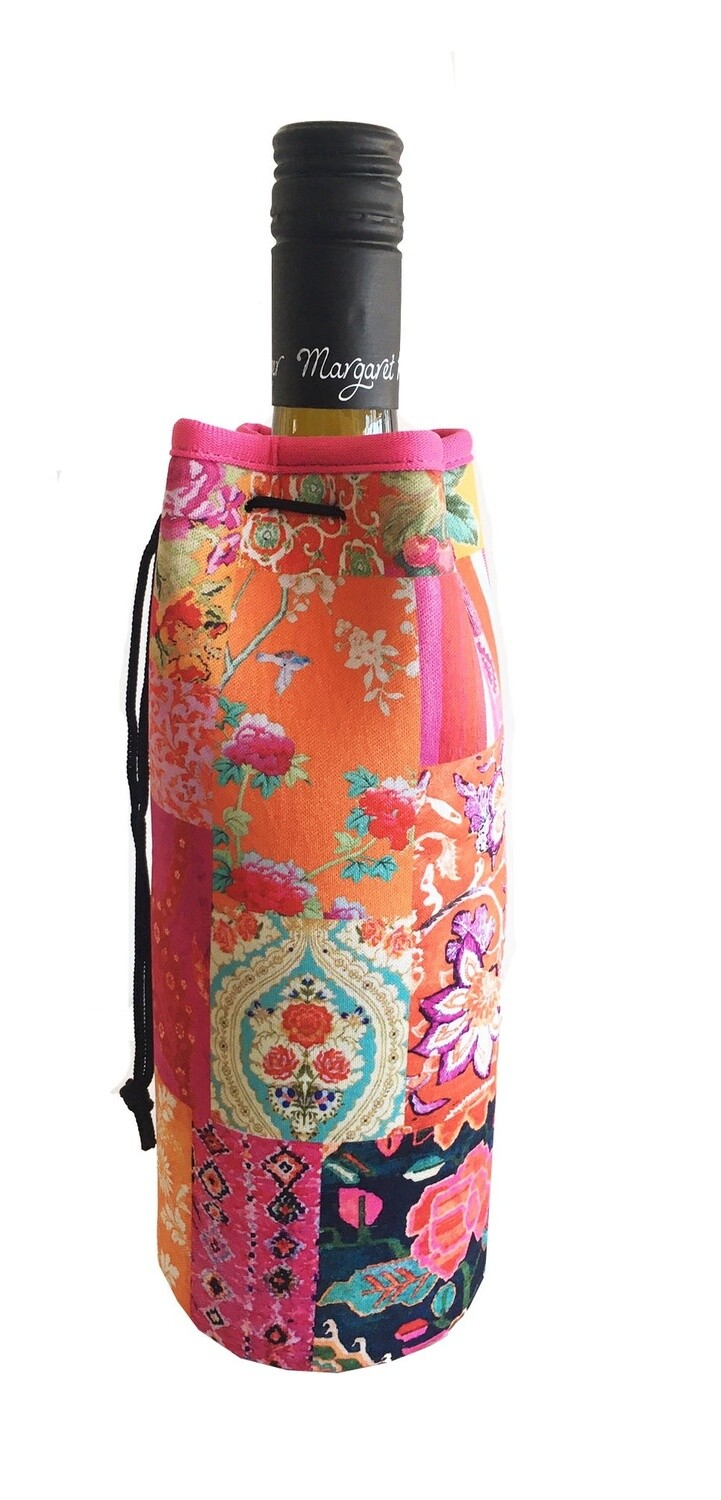 Bottle Cooler Bag Tangerine Patchwork