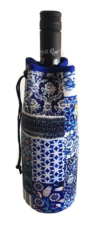 Bottle Cooler Bag Indigo