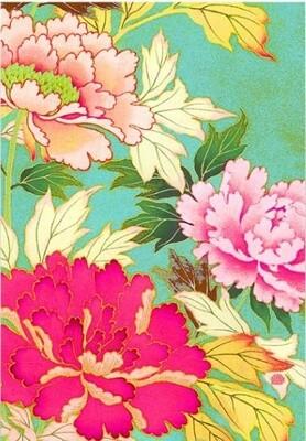 Tea Towel Kimono Flowers