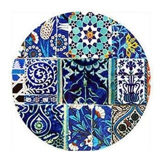 Dessert Plate Set Blue Patchwork