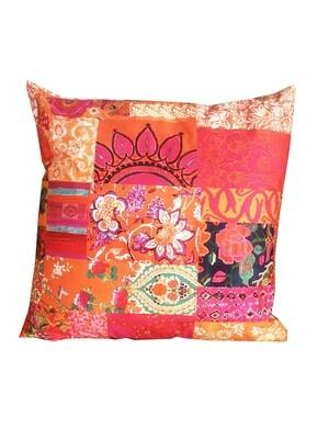 Cushion Tangerine Patchwork W/R