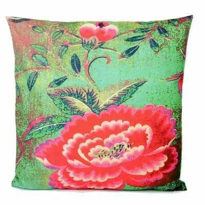Velvet Cushion Chinese Peony
