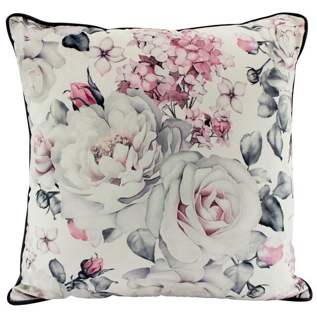 Roses Velvet Cushion 50cm