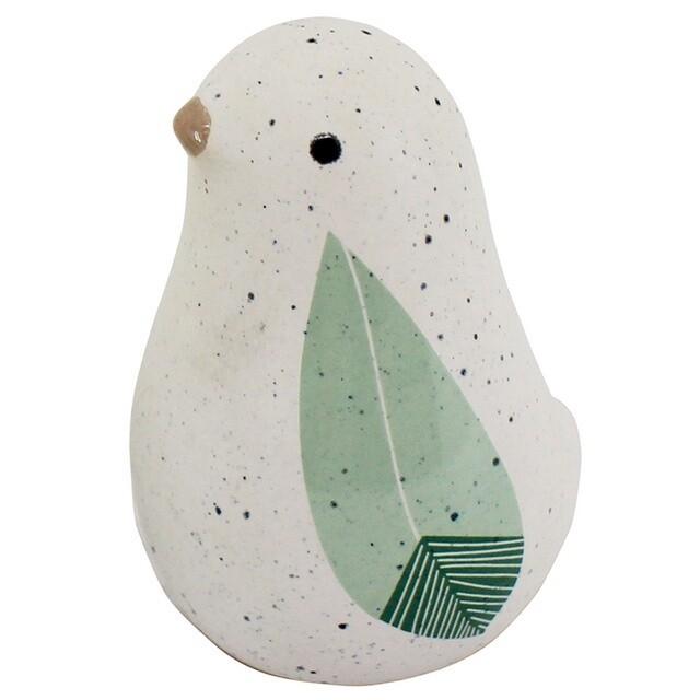 Sage Ceramic Bird 8cm