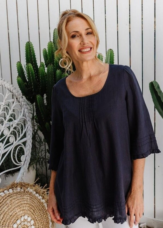 Trapeze Top Navy