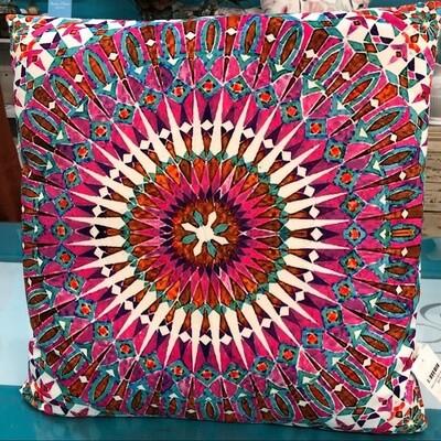 Velvet Cushion Moroccan Pink